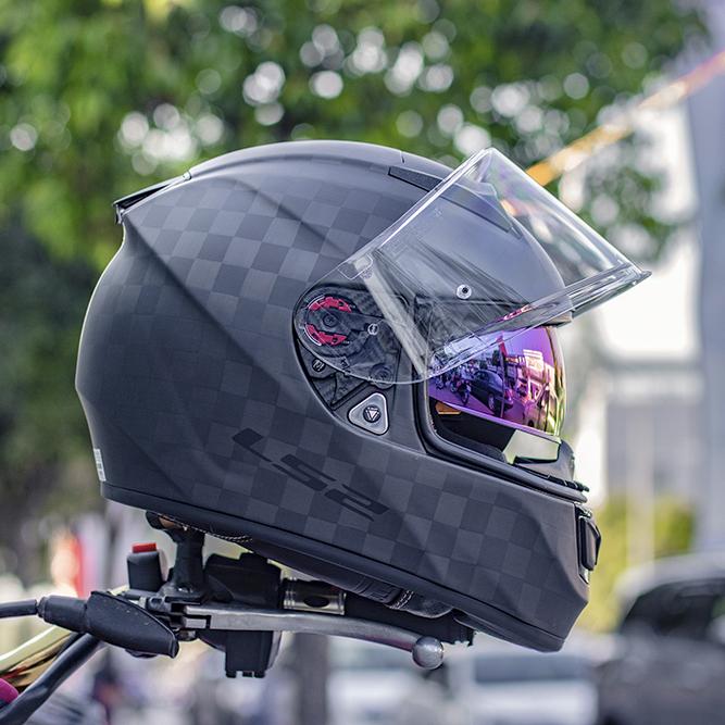 mũ bảo hiểm fullface LS2 ff397 vector carbon