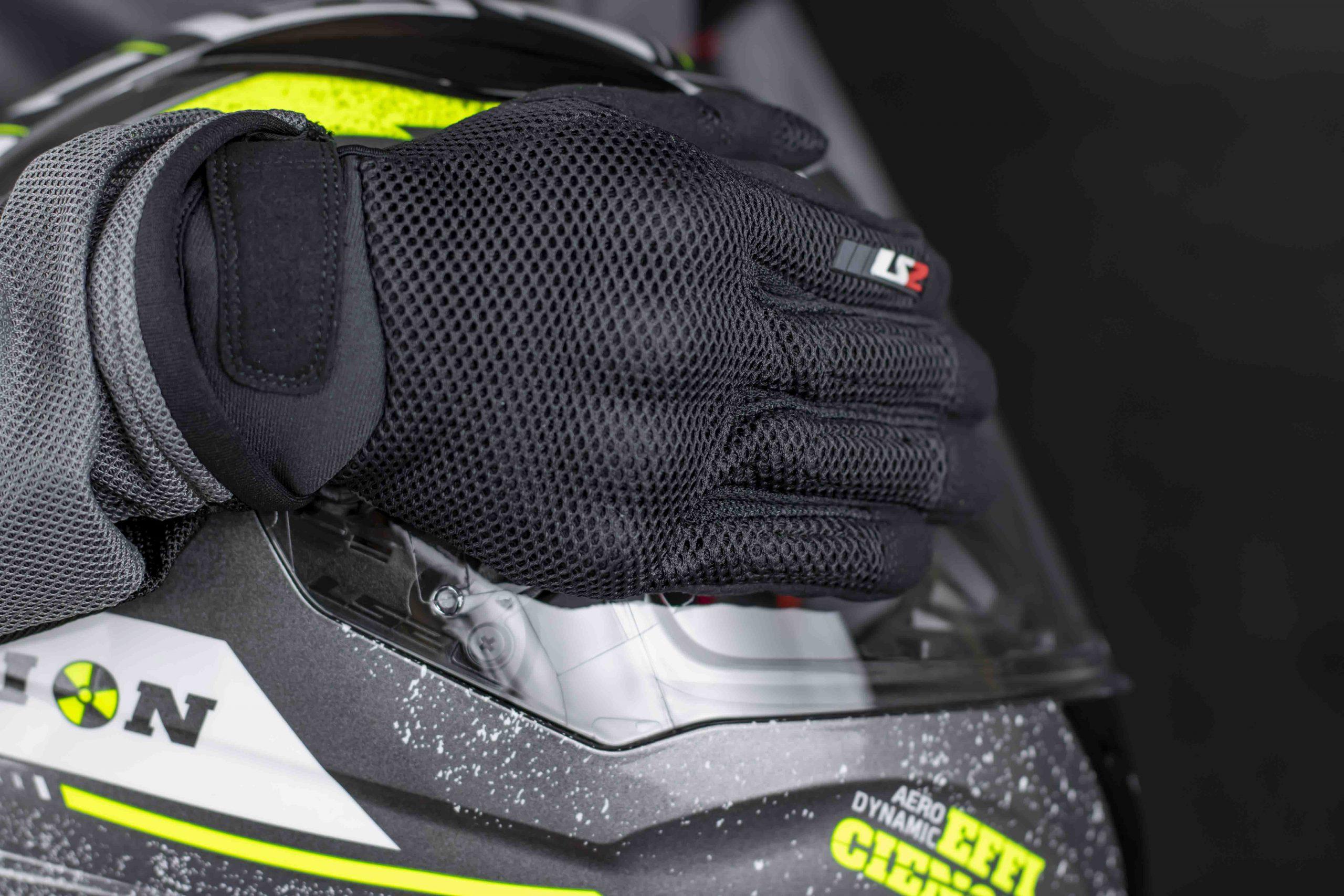 găng tay ls2 ray man đen